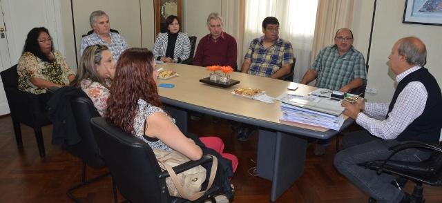 Di Pierro recibió en su despacho a la nueva Comisión Directiva